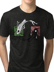 Push & Pull (Green/Red) Tri-blend T-Shirt