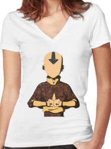 Aang Women's Fitted V-Neck T-Shirt