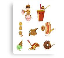 Junk Food Army Canvas Print