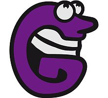 Letter G comic face funny monsters by Style-O-Mat