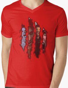 Claw Mark Teen Wolf Mens V-Neck T-Shirt