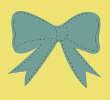 Green bow One Piece - Short Sleeve