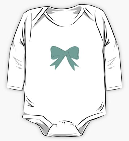 Green bow One Piece - Long Sleeve