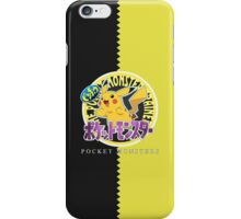 Pocket Monsters Yellow iPhone Case/Skin