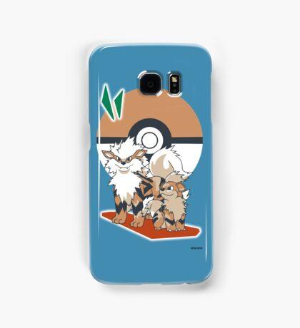 Pokemon Growlithe & Arcanine Samsung Galaxy Case/Skin