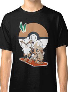 Pokemon Growlithe & Arcanine Classic T-Shirt