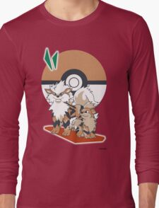 Pokemon Growlithe & Arcanine Long Sleeve T-Shirt
