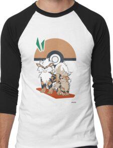 Pokemon Growlithe & Arcanine Men's Baseball ¾ T-Shirt
