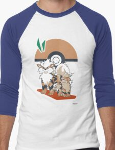 Pokemon Growlithe & Arcanine Men's Baseball ¾ T-Shirt