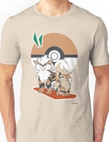 Pokemon Growlithe & Arcanine Unisex T-Shirt