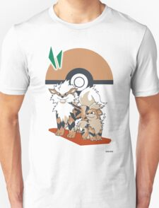 Pokemon Growlithe & Arcanine T-Shirt