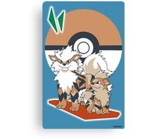 Pokemon Growlithe & Arcanine Canvas Print
