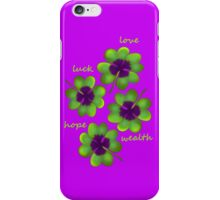 Four leaf clover iPhone Case/Skin