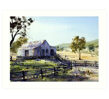 Farm Shed - Morning Light and Shadows Art Print