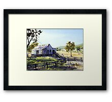 Farm Shed - Morning Light and Shadows Framed Print