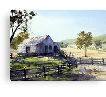Farm Shed - Morning Light and Shadows Metal Print