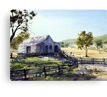 Farm Shed - Morning Light and Shadows Canvas Print