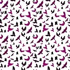 Vector illustration of Birds in seamless pattern by SonneOn