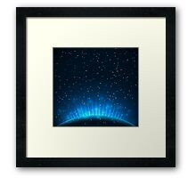 Vector illustration of Abstract blue background Framed Print