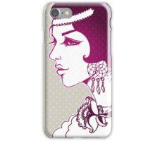 Vector illustration of Beautiful woman iPhone Case/Skin
