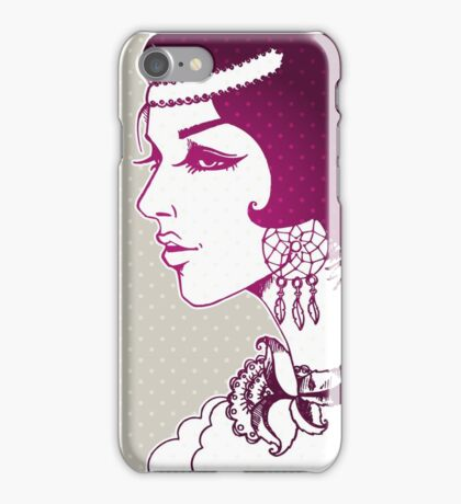 Vector illustration of Beautiful woman iPhone Case/Skin