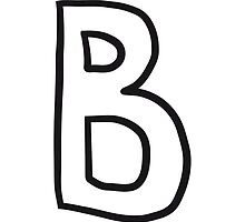 Letter B comic cartoon by Style-O-Mat