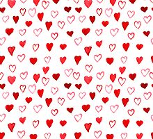 Watercolor Hearts pattern by SonneOn