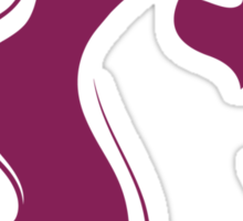 Pregnant woman's silhouette Sticker