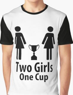 Two Girls One Cup - Parody Graphic T-Shirt