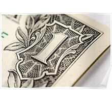 US Dollar bill, super macro photo Poster
