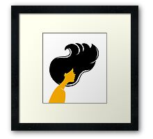 Beautiful woman Framed Print