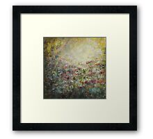 My soul is like a garden... Framed Print