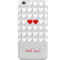 with hearts iPhone Case/Skin