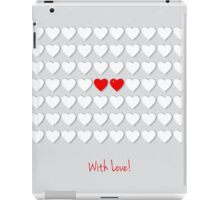 with hearts iPad Case/Skin