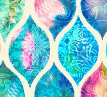Watercolor Ogee Patchwork Pattern Sticker