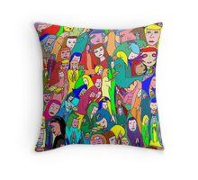 The Dark Maiden of Montserrat Throw Pillow