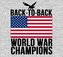 Distressed U.S. Flag & Eagle World War Champs Unisex T-Shirt