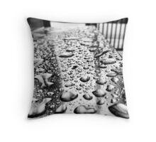 Raindrops on a Podium Throw Pillow