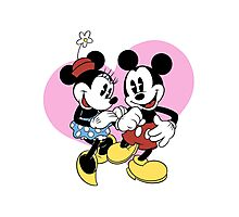 minnie and mickey mouse Photographic Print
