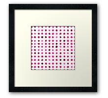 Watercolor pattern design Framed Print