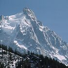 Mountain with observation tower nr Chamonix France 198404270086  by Fred Mitchell