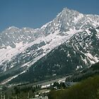 Mountains above road nr Chamonix France 198404270090 by Fred Mitchell