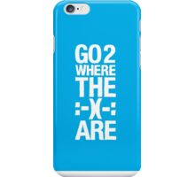 Go 2 Where The Smiles Are :-) : Blue Phone Cover iPhone Case/Skin