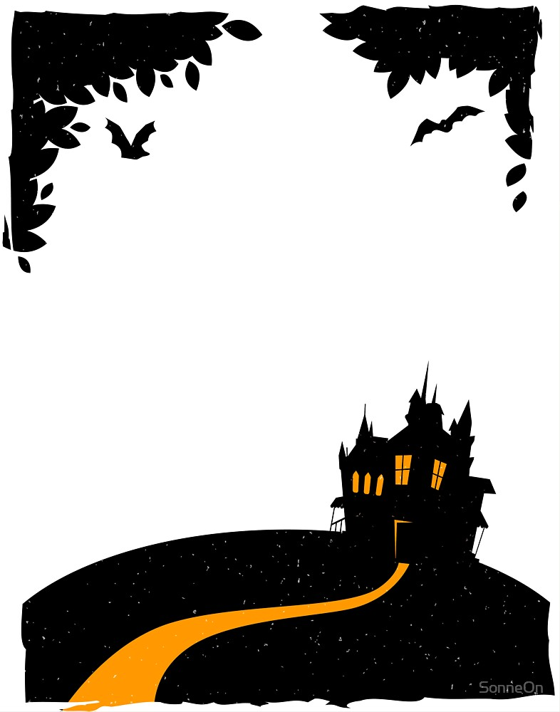 Happy halloween card with castle by SonneOn