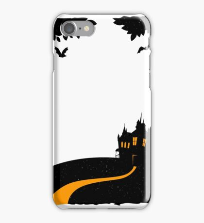Happy halloween card with castle iPhone Case/Skin