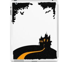 Happy halloween card with castle iPad Case/Skin