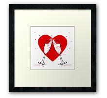 Two Glasses of champagne Framed Print