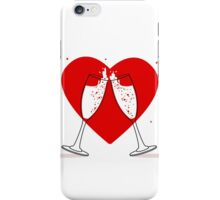 Two Glasses of champagne iPhone Case/Skin