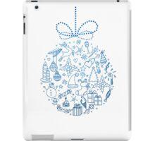 Xmas doodle ball iPad Case/Skin