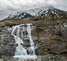 Waterfall in Glen Coe, Scotland by ArthakkerHDR